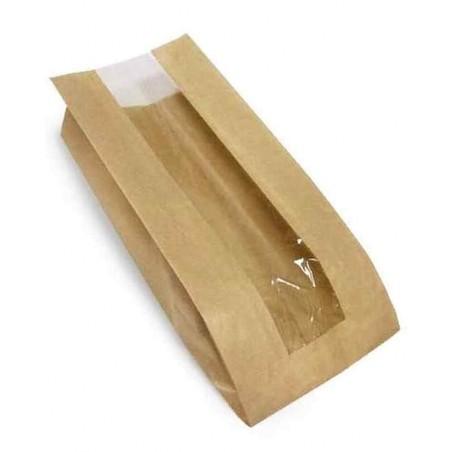 Пакет саше з віконцем із крафт-паперу 29х10х4(5) см