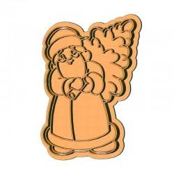 Санта Клаус з ялинкою форма...