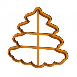 Пишна ялинка форма для пряника