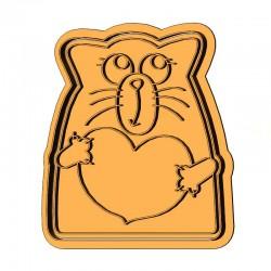 Кіт з серцем форма для пряника