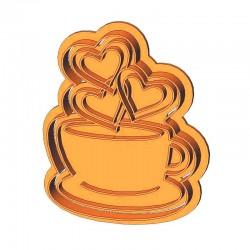 Філіжанка кави з сердечками...