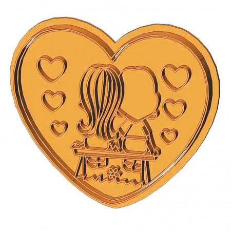 Сердце Love is форма для пряника