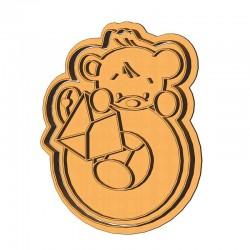 Медвежонок О LOVE форма для...