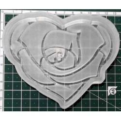 Сердце роза (молд для выпечки)