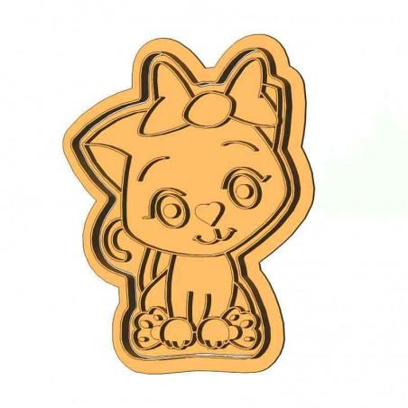 Кошечка с бантиком форма для пряника