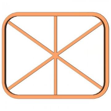 Рамка прямокутник форма для...