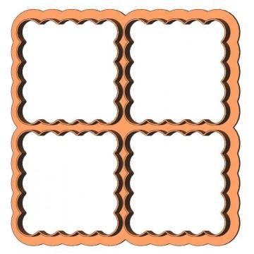 Рамка квадрат з квадратів...