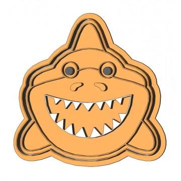 Веселая акула форма для...