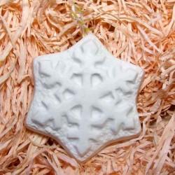 Сніжинка гіпсова фігурка