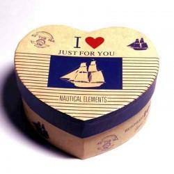 Коробка-сердце в морском стиле